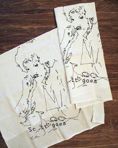 Set of 2 Towels  Kurt VONNEGUT  MultiPurpose Flour by ZenThreads, $15.00   OMG I LOVE