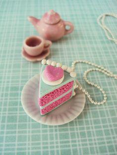 Bubblegum con sabor a pastel de collar arcilla por MyMiniMunchies