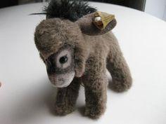 "Vintage Steiff stuffed donkey ""Assy"" collectible plush toy $50.00 USD"