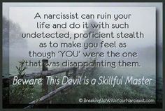 A narcissist can ruin your life. Beware of disappointing a narcissist! Winning and control is everything, no matter of what the cost. Even destroying a family. Narcissistic People, Narcissistic Mother, Narcissistic Behavior, Narcissistic Abuse Recovery, Narcissistic Sociopath, Narcissistic Personality Disorder, Narcissistic Characteristics, Abusive Relationship, Toxic Relationships