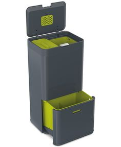 Walmart Outdoor Trash Cans Magnificent Rubbermaid Double Decker 2In1 Recycling Modular Bin With Linerlock Inspiration Design