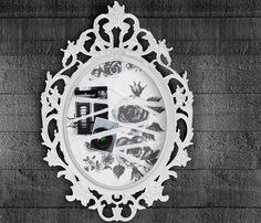 UNG DRILL Rahmen oval/weiß als Inspirationswand