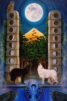 XVIII - La lune - The Star Tarot par Cathy McClelland