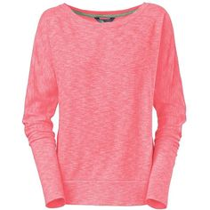 The North Face Women's L/S Hallina Shirt ($60) ❤ liked on Polyvore featuring tops, rambutan pink, long-sleeve shirt, pink top, fitted shirt, red top and stitch shirt