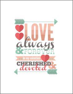 FREE Valentine Printable, Valentine's Day DIY Printables, Free, Love