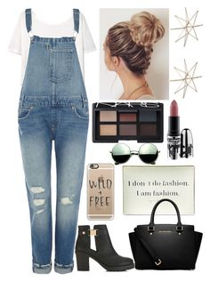 """""""kinda cold"""" by queen-hstyles ❤ liked on Polyvore featuring MANGO, Levi's, Twigs and Moss, Miss Selfridge, MICHAEL Michael Kors, Casetify, NARS Cosmetics, MAC Cosmetics, Revo and Uttermost"""