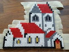 Church hama beads by Charlotte Rahr