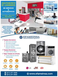 Negocio Lavandería Autoservicio - Altas Ganancias - Asesoría Gratuita. EFAMEINSA Para mayor información contáctenos a los teléfonos: (511) 371-0006 / (511) 371-0502