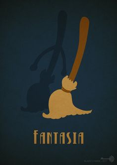 "Fantasia by BlackCyanide-fr.deviantart.com on @deviantART - Twentieth in a series of minimalist Disney movie posters: ""Fantasia""."