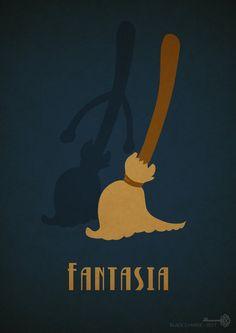 "Fantasia by BlackCyanide-fr.deviantart.com on @deviantART - Twentieth in a series of minimalist Disney movie posters: ""Fantasia""."
