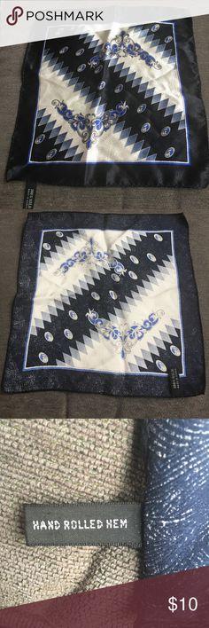 "100% Silk POCKET HANDKERCHIEF square In perfect condition, measuring 10"" x 10""! Vintage Accessories Pocket Squares"