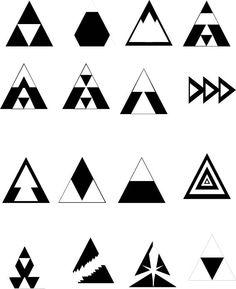 Triangle Art, Triangle Tattoos, Triangle Design, Geometric Pattern Design, Geometry Pattern, Geometric Designs, Graphic Design Lessons, Geometric Drawing, Principles Of Design