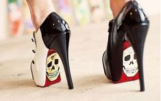 stilettos heels | Old school tattoos on your stilettos