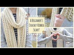 Crochet a Beginner's Ribbed Scarf! | Ms. Craft Nerd
