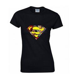 Superman Fashion Print 100% Cotton Women's T-shirt