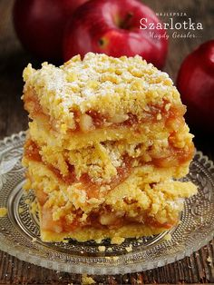 delicious apple pie on shortcrust pastry (in Polish) Bakery Recipes, Dessert Recipes, Desserts, Yummy Treats, Sweet Treats, Shortcrust Pastry, Pastry And Bakery, Wrap Sandwiches, Pork Recipes