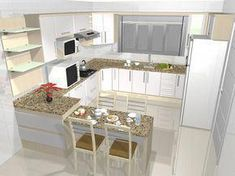 There is no question that designing a new kitchen layout for a large kitchen is much easier than for a small kitchen. A large kitchen provides a designer with adequate space to incorporate many convenient kitchen accessories such as wall ovens, raised. Interior Design Kitchen, Kitchen Decor, Kitchen Ideas, Medan, Cuisines Design, Layout Design, Home Kitchens, Kitchen Remodel, House Plans