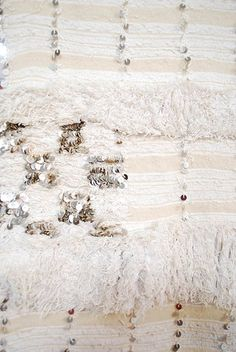 Vintage Moroccan wedding blanket detail 672 by moroccanmaryam, via Flickr