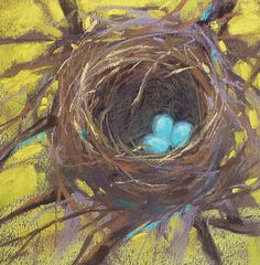Painting my World: Pastel Mini Demo BIRD NEST and What Inspired it!