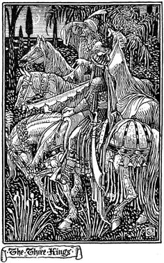 'The Three Kings' by Walter Crane by Plum leaves, via Flickr