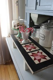 Tis the season to gather family and friends around our tables, so I thought I would add my favorite barn quilt designs to my table scapes t...