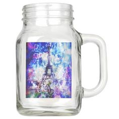 Rainbow Parisian Dreams of the Ones that Love Us Mason Jar - mason jars gifts ideas presents