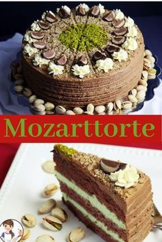 "Wolfgang Amadeus Mozart was born on January 1756 in the ""Hagenauer Haus"" in . - Wolfgang Amadeus Mozart was born on January 1756 in the ""Hagenauer Haus"" at Getreidegasse 9 in - Delicious Cake Recipes, Yummy Cakes, Sweet Recipes, Dessert Recipes, Marzipan Cake, Torte Recepti, German Baking, German Desserts, Tummy Yummy"