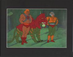 He-Man Masters of the Universe Production Animation Art Cel Battlecat Man at Arms th by CharlesScottGallery on Etsy