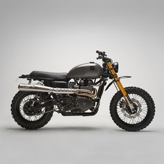 Öhlins suspension, Arrow pipes, motocross bars and Motogadget electronics: this scrambler from 6/5/4 Motors is giving us serious spec envy.