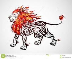 Buy Tribal Flame Lion by kuzzie on GraphicRiver. Illustration of tribal flame lion. This image is a vector illustration and can be scaled to any size without loss of . Tribal Animal Tattoos, Tribal Lion Tattoo, Tribal Animals, Lion Tattoo Design, Tribal Tattoo Designs, Bull Tattoos, Tatoos, Tattoos Skull, Cat Tattoo