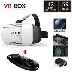 VR BOX Pro VR Virtual Reality 3D Glasses Google Cardboard + Smart Bluetooth Wireless Remote Control Gamepad