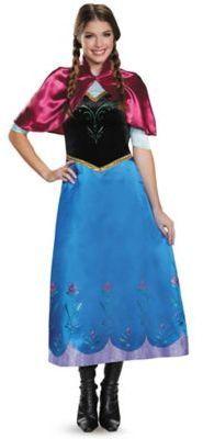 Buy Disney Frozen Anna Traveling Gown Deluxe Halloween Costume   Adult Plus  Size 18   Disney Frozen Womens Anna Traveling Gown Deluxe Halloween Costume  ...