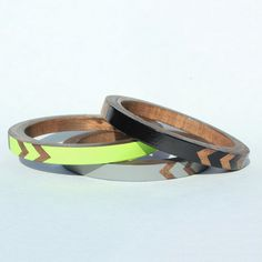 Voz wooden painted bangles