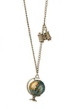 From Paris with Love! - Explore The World! necklace bronze