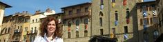 Touring Arezzo with lovely US clients !  www.tuscantoursandweddings.com