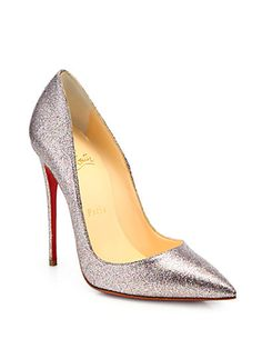 Christian Louboutin - So Kate Glitter Pumps  Barbie shoes