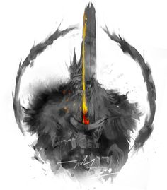 """Soulstober Day 2! Lord Gywn """"At the dawn of the Age of Fire, Gwyn discovered a Lord Soul and thus became the Lord of Sunlight alongside three other Lords. His Lord Soul granted him the power of the sun and lightning, and Gwyn helped defeat the Everlasting..."""