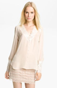 Haute Hippie Lace Trim Blouse | #Nordstrom #falltrends