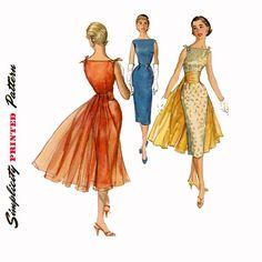 cummerbund skirt sewing patterns   ... Vintage Sewing Pattern Sheath w Detachable Cummerbund Day to Evening