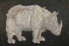 "Saatchi Art Artist Gian Luigi Delpin; Painting, ""Ghost rhino"" #art"