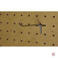 """50-pack 6"""" Metal Peg Board Shelving Hooks Fits 1/4"""" Board"""