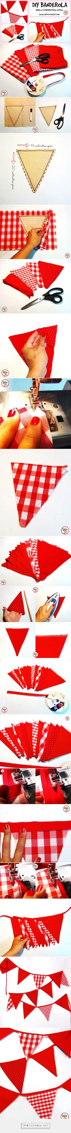 How to make a Banderola / Do it yourself with this tutorial! How to make a . Diy Christmas Presents, Christmas Diy, Picnic Birthday, Weekend Crafts, Fabric Bunting, Bbq Party, Paper Gifts, Diy For Kids, Frozen Birthday