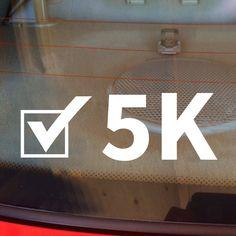 5K Decal, Runner Decal, 5K Car Decal, Marathon Decal, 5K Sticker, 5K, 5K Laptop Sticker, 5K Laptop Decal, Vinyl Decal, Track, Track Decal by DesignsByTenisha