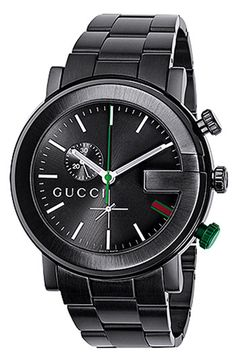 Free shipping and returns on Gucci 'G Chrono Collection' Watch, 44mm at Nordstrom.com. Stainless steel encases a sleek bracelet watch featuring a black guilloché dial.