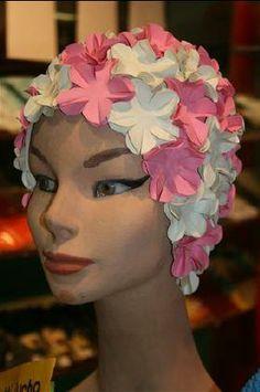 CUFFIA FLOWER BIANCO ROSA