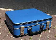 De KLM-koffer kreeg ik voor mijn verjaardag. Wat heb ik daar om gezeurd, zeg .....