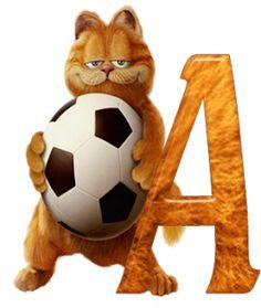 Alfabeto Decorativo: Alfabeto - Garfield - PNG - Maiúsculas e Minúscula...