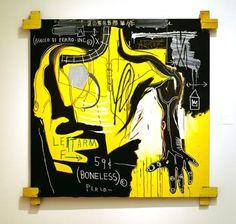 Jean-Michel Basquiat - Artist XXème - Underground Art - NeoExpressionism - Bracco di Ferro - 1983