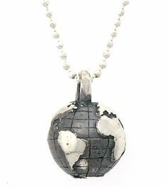 "Peace on Earth Necklace Vilmain. $38.99. Arrives in a Beautiful Gift Box. Made from Solid Sterling Silver. Handcrafted in Rhode Island. Earth is 3/8"" accross, 18"" chain"