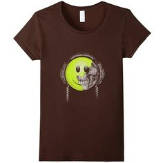 Amazon.com: DJ Headphone Smilie T-Shirt: Clothing (€11) ❤ liked on Polyvore featuring club